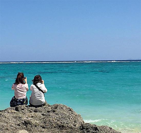 沖縄の青い海 北部宿泊